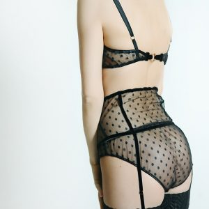 Nour Polka Dot Suspender Belt by Sonata London